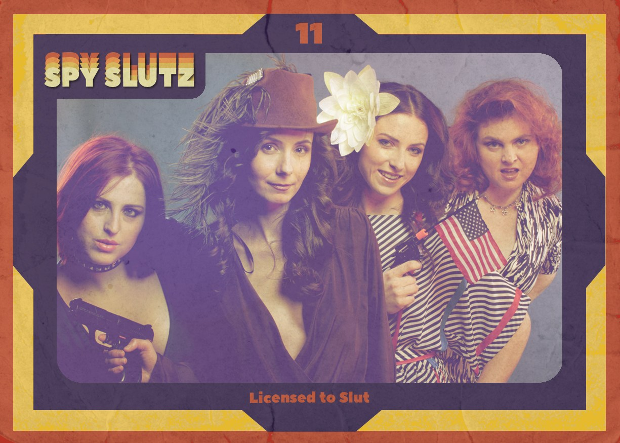 Spy Slutz tv trading card 11