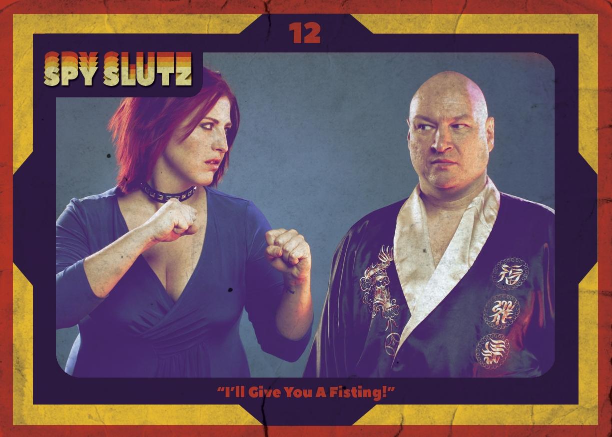 Spy Slutz tv trading card 12