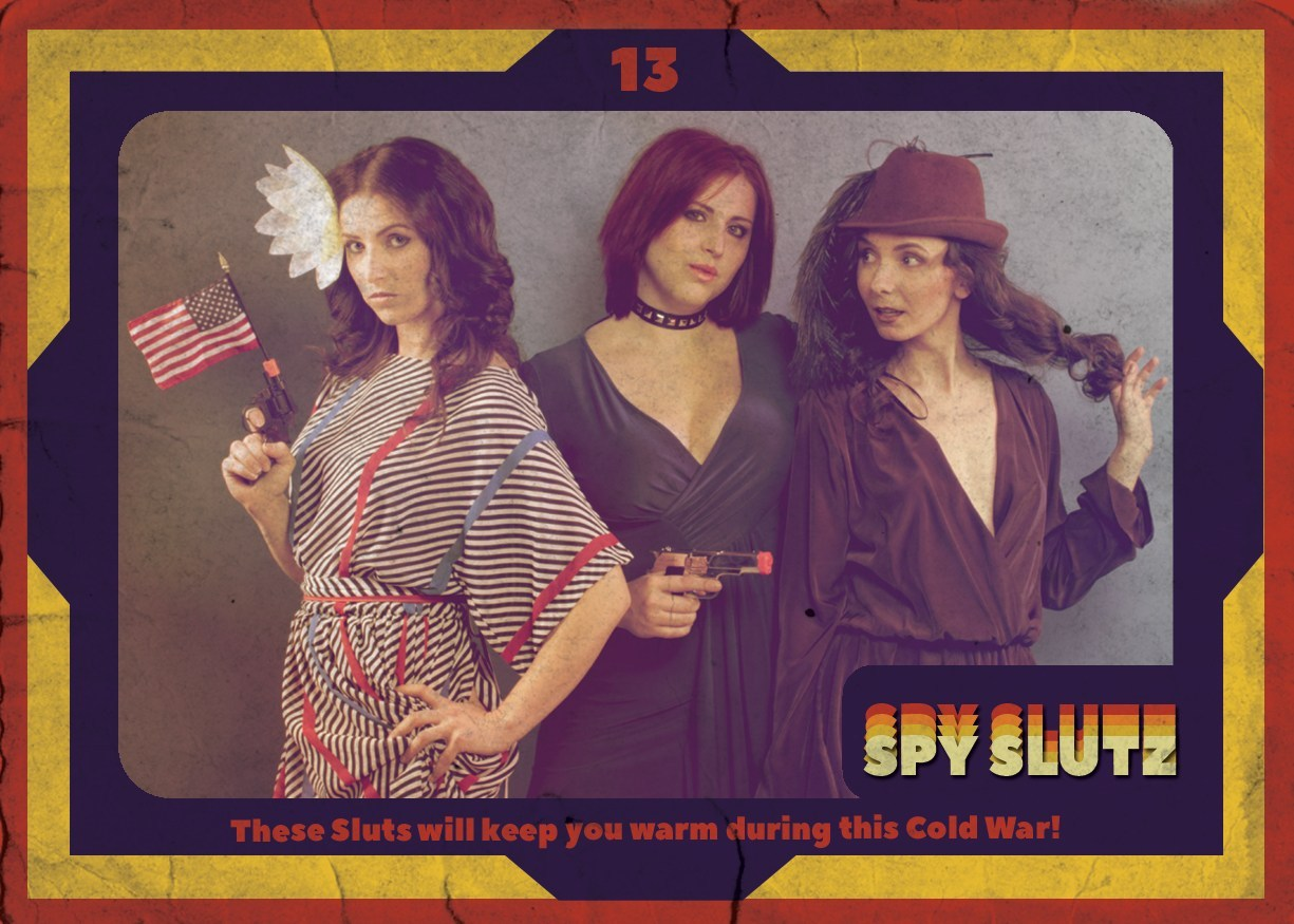Spy Slutz tv trading card 13