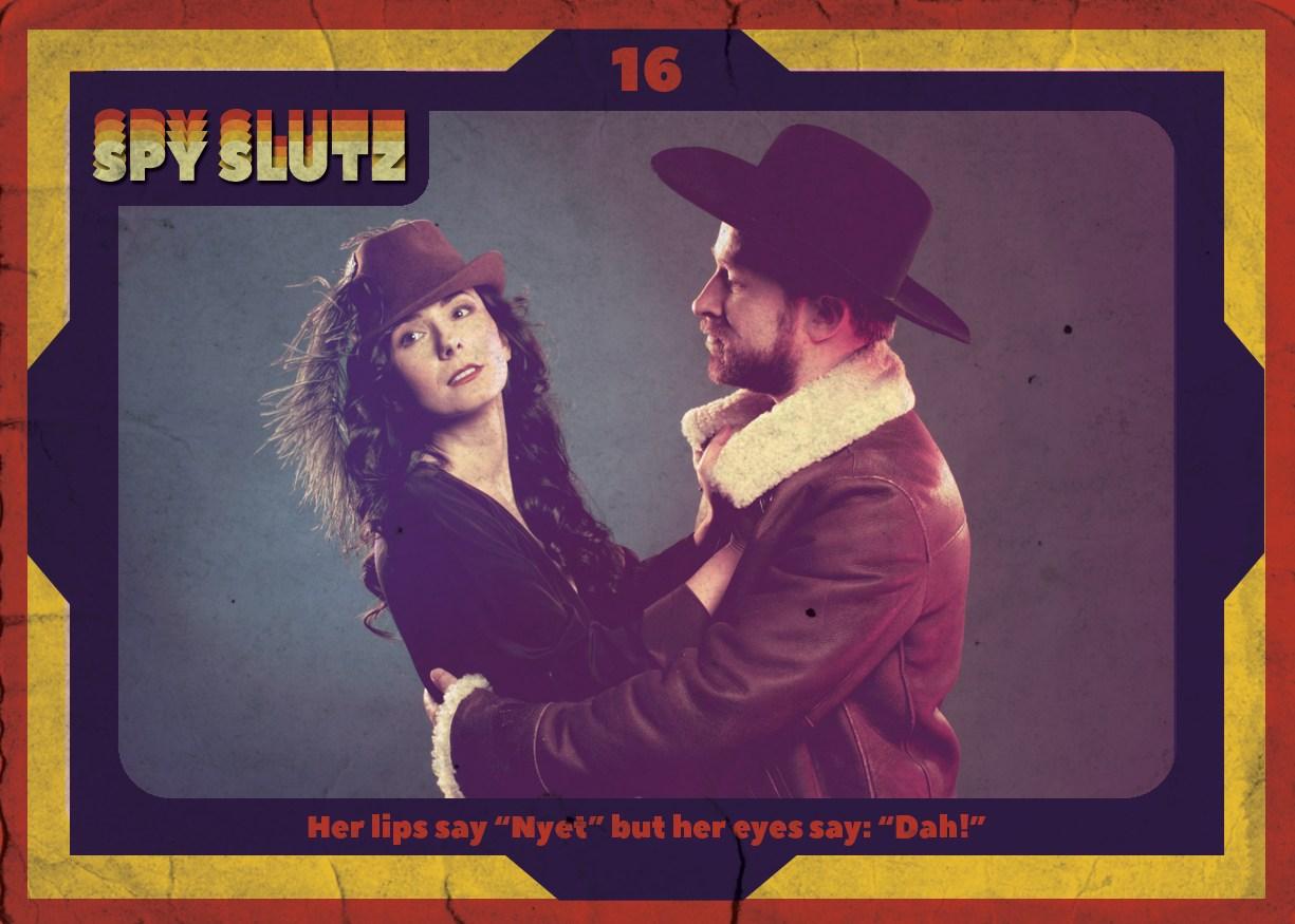 Spy Slutz tv trading card 16