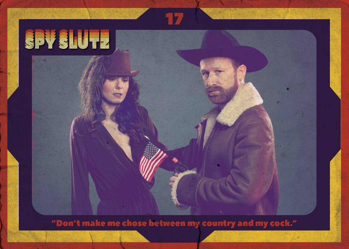 Spy Slutz tv trading card 17