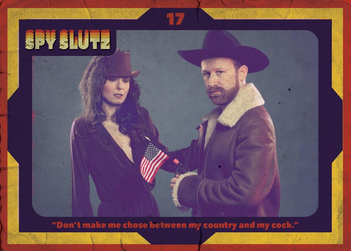 Spy Slutz tv trading card 17