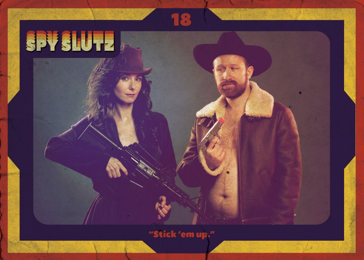 Spy Slutz tv trading card 18