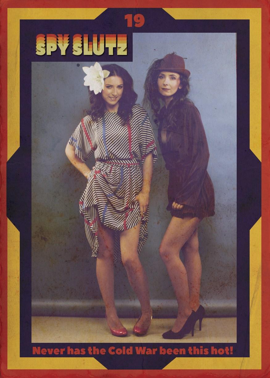 Spy Slutz tv trading card 19