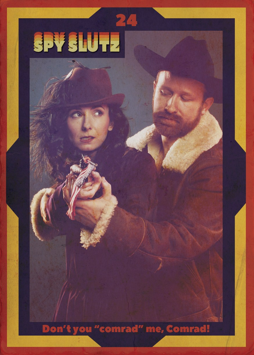 Spy Slutz tv trading card 24