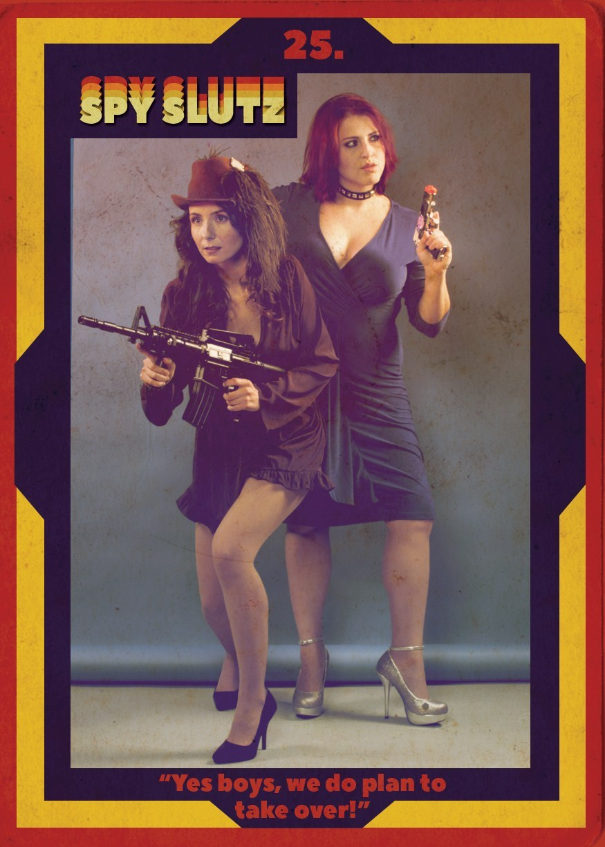Spy Slutz tv trading card 25
