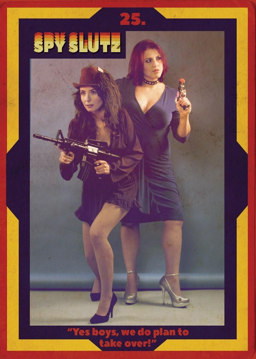Spy Slutz tv trading card 25