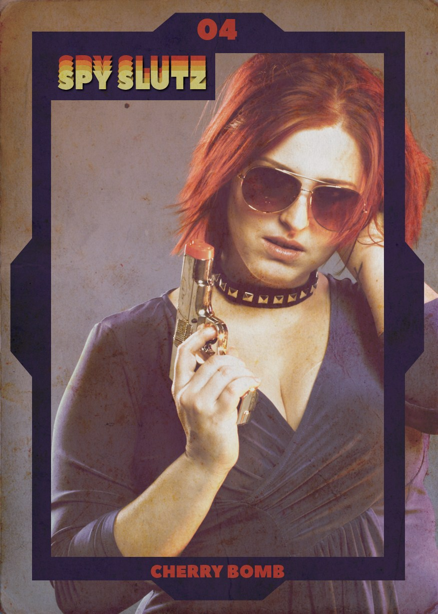 Spy Slutz tv trading card 04